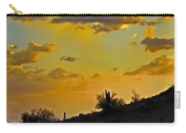 Y Cactus Sunset 10 Carry-all Pouch