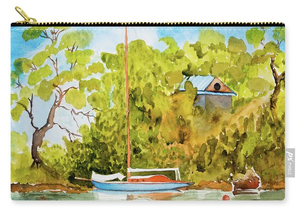 Yacht Weene' In Barnes Bay  Carry-all Pouch