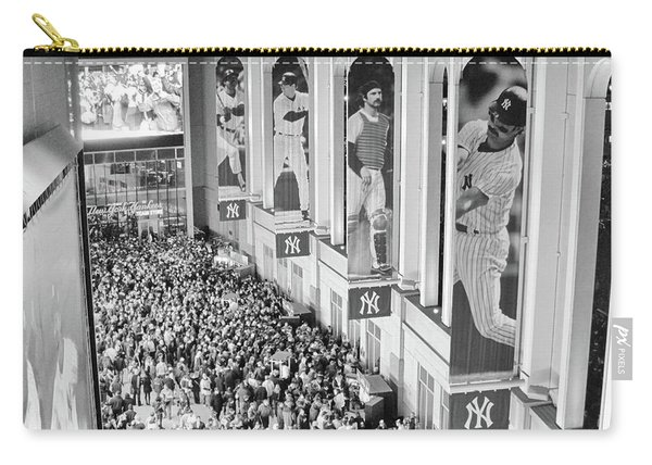 Yankee Stadium Great Hall 2009 World Series Black And White Carry-all Pouch