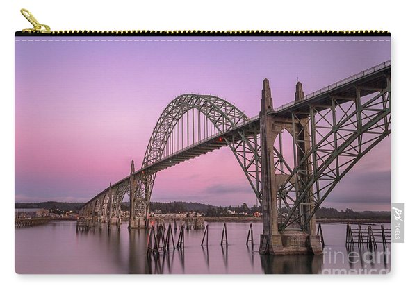 Yaquina Bay Bridge In Blue Light Carry-all Pouch