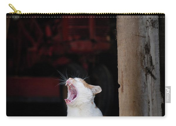 Yawning Barn Cat And Tractor Carry-all Pouch