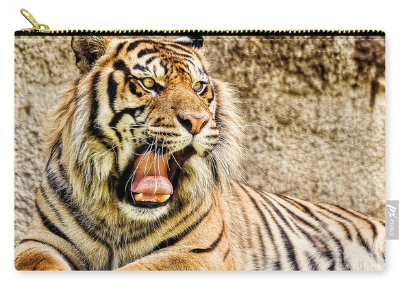 Yawning Bengal Tiger Carry-all Pouch