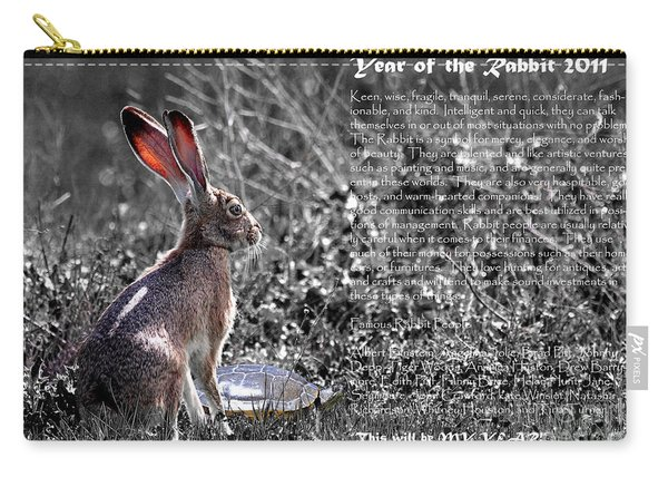 Year Of The Rabbit 2011 . Bw Carry-all Pouch