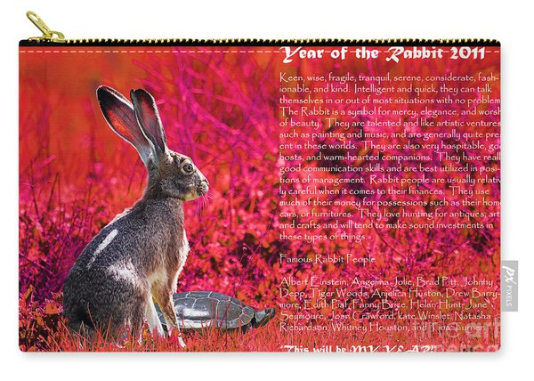 Year Of The Rabbit 2011 . Red Carry-all Pouch