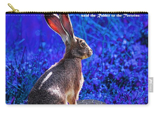 Year Of The Rabbit 2011 . Square Blue Carry-all Pouch