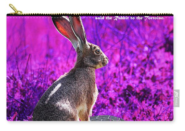 Year Of The Rabbit 2011 . Square Magenta Carry-all Pouch