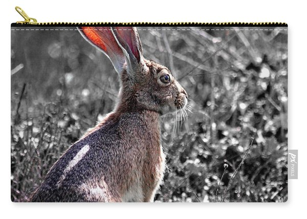 Year Of The Rabbit 2011 . Vertical Bw Carry-all Pouch
