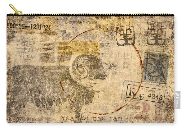 Year Of The Ram Postcard Carry-all Pouch
