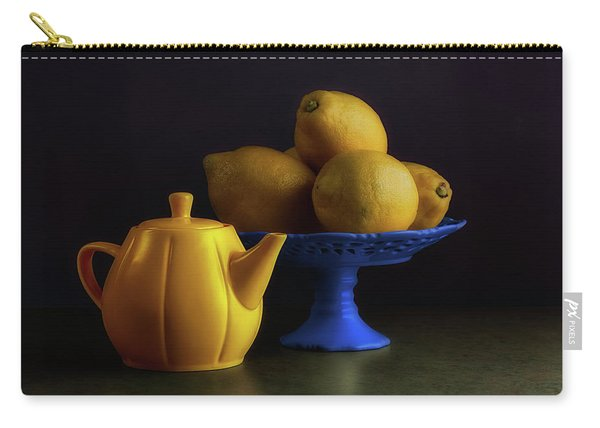 Yellow And Blue Still Life Carry-all Pouch