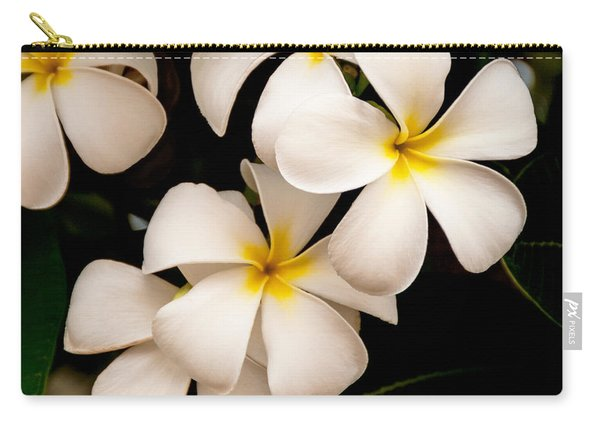 Yellow And White Plumeria Carry-all Pouch