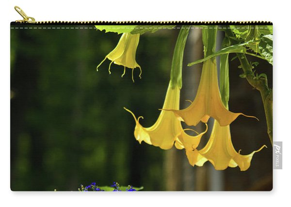 Yellow Angel Trumpet Carry-all Pouch