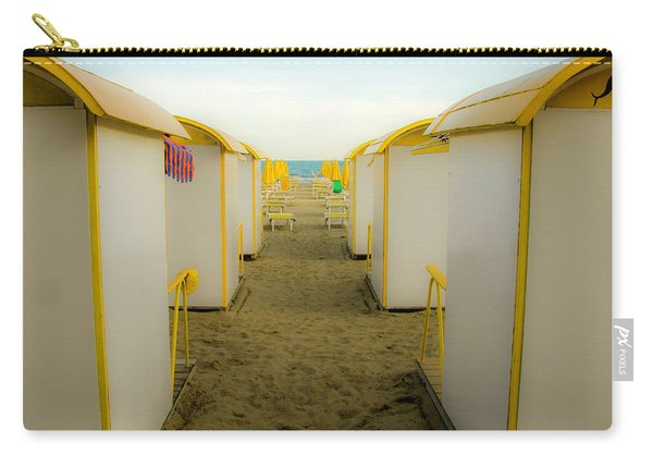 Yellow Beach Cabanas Carry-all Pouch