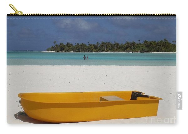 Yellow Boat In South Pacific Carry-all Pouch