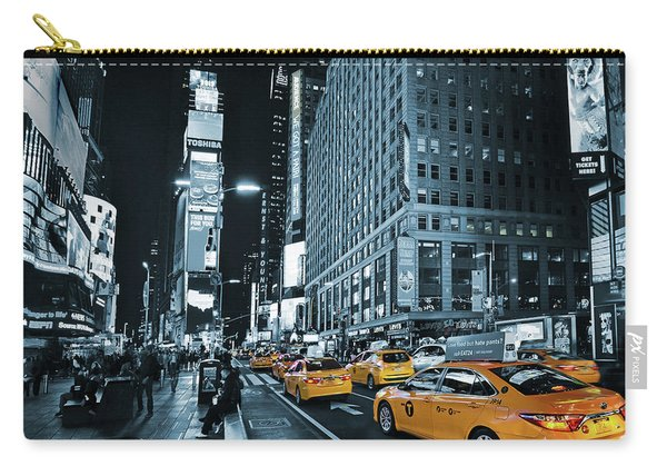 Yellow Broadway At Night - Nyc Carry-all Pouch