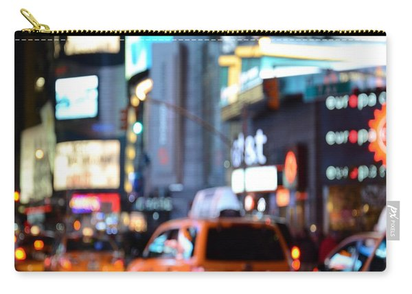 Yellow Cabs At Time Square In New York Carry-all Pouch