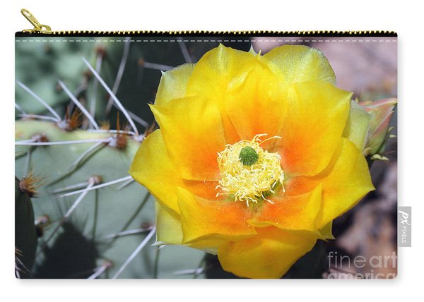 Yellow Cactus Flower Carry-all Pouch