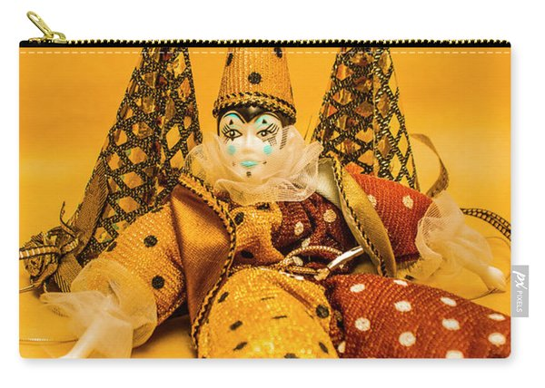 Yellow Carnival Clown Doll Carry-all Pouch