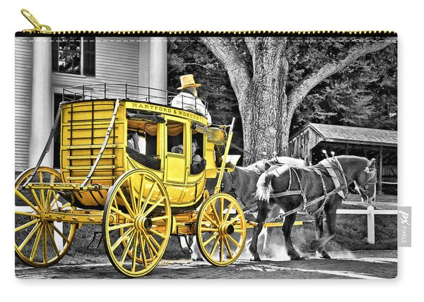 Yellow Carriage Carry-all Pouch