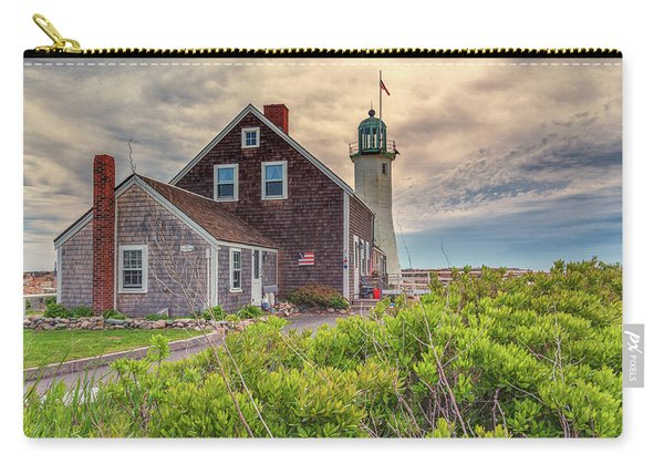 Yellow Clouds Over Scituate Lighthouse Carry-all Pouch