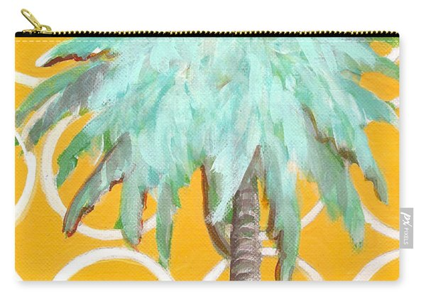 Yellow Delilah Palm Carry-all Pouch