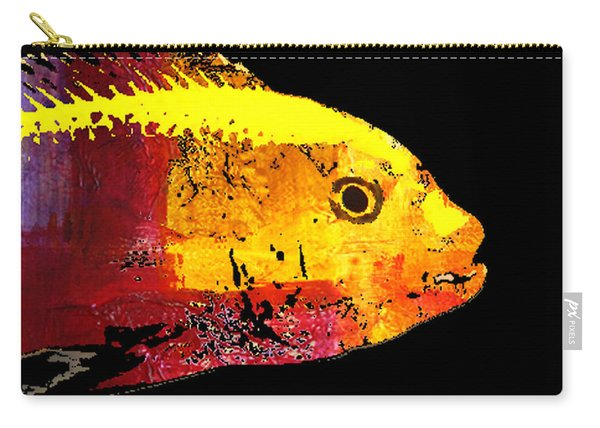 Yellow Fish Abstract Carry-all Pouch