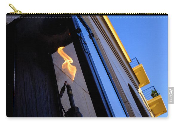 Yellow Flames And Blue Sky In Winter Park Florida Carry-all Pouch