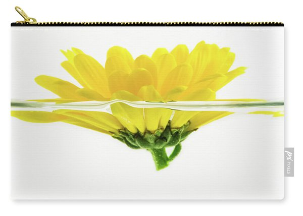 Yellow Flower Floating In Water Carry-all Pouch