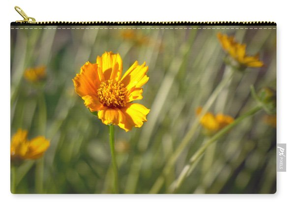 Carry-all Pouch featuring the photograph Yellow Flower by Michael Colgate