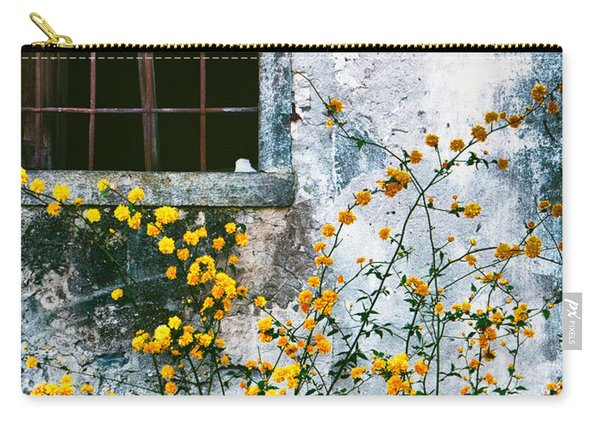 Yellow Flowers And Window Carry-all Pouch