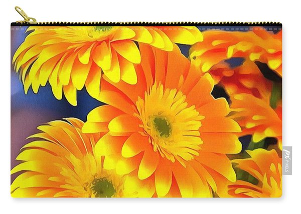 Yellow Flowers In Thick Paint Carry-all Pouch