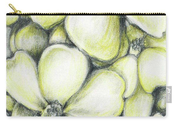 Yellow Flowers Pencil Carry-all Pouch