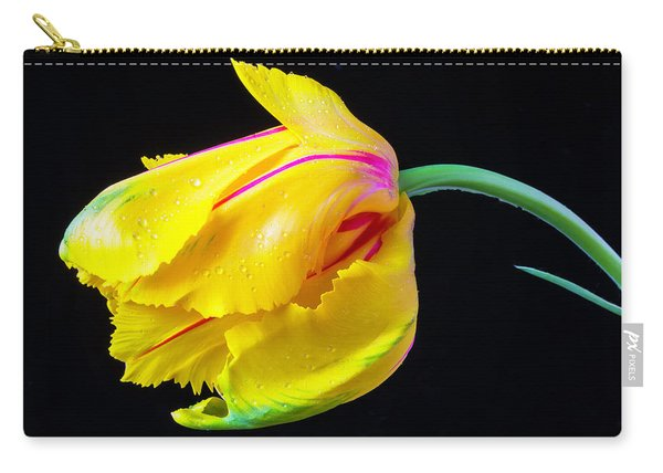 Yellow French Tulip Carry-all Pouch