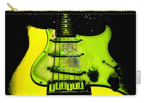 Yellow Guitar Full Time Occupation Carry-all Pouch