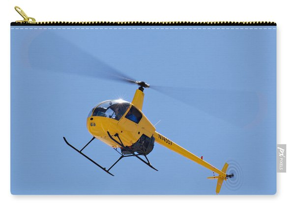 Yellow Helicopter Carry-all Pouch