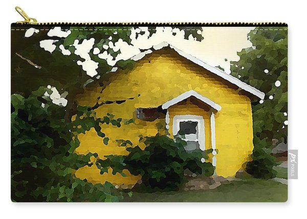 Yellow House In Shantytown  Carry-all Pouch