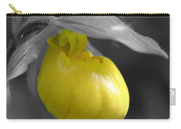 Yellow Lady Slipper Partial Carry-all Pouch