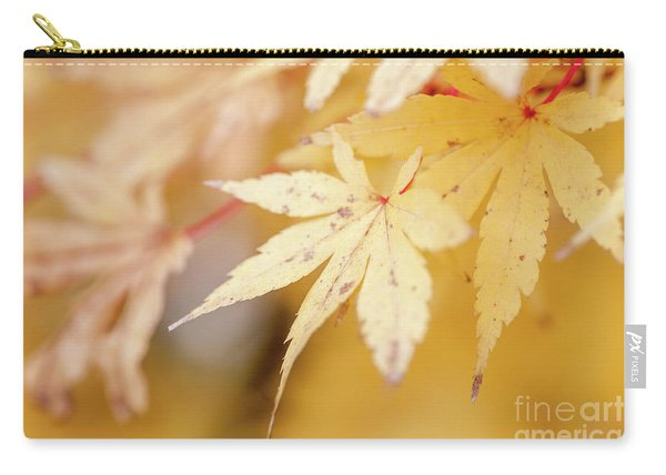 Yellow Leaf With Red Veins Carry-all Pouch