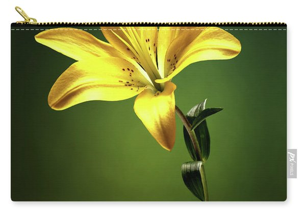 Yellow Lilly With Stem Carry-all Pouch