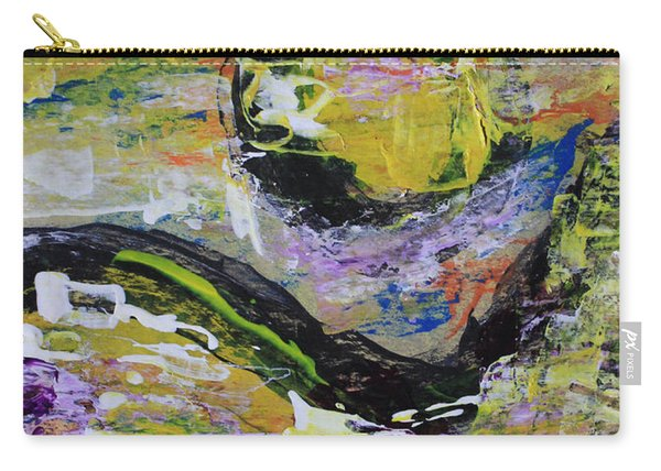Yellow Moon Abstract Carry-all Pouch