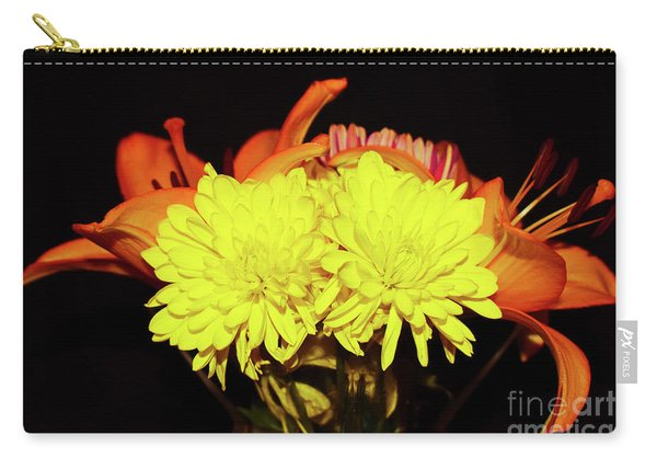 Yellow Mums And Orange Lilies  Carry-all Pouch