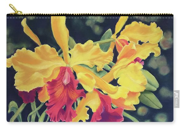 Yellow Orchids Carry-all Pouch