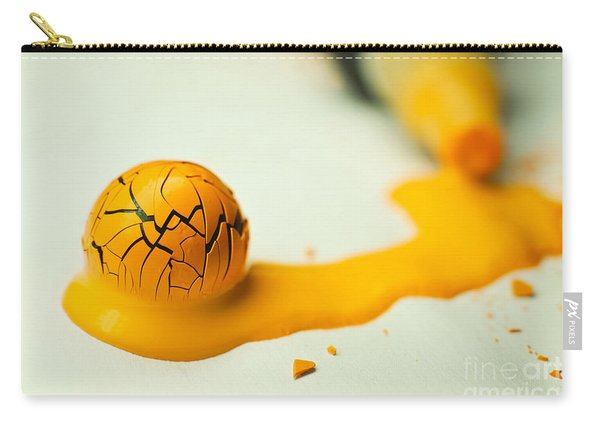 Yellow Painted Ball Carry-all Pouch