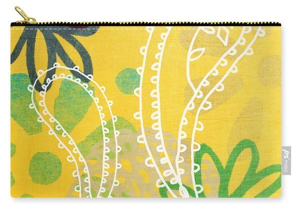 Yellow Paisley Garden Carry-all Pouch