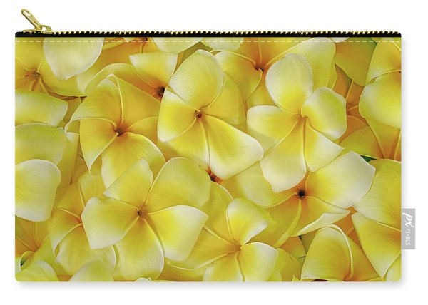 Yellow Plumerias Carry-all Pouch