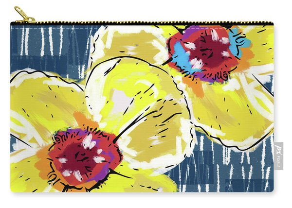 Yellow Poppies 2- Art By Linda Woods Carry-all Pouch