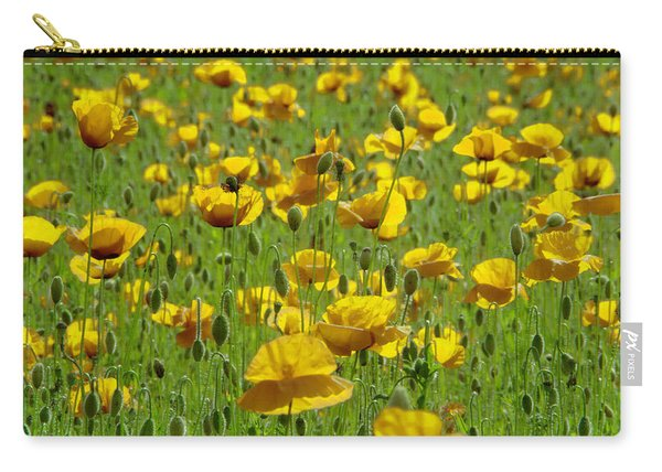 Yellow Poppy Field Carry-all Pouch