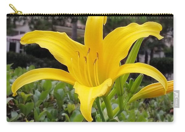 Yellow Renaissance Lily Carry-all Pouch