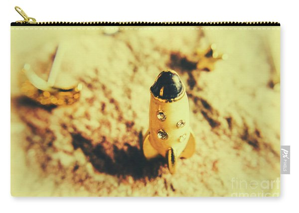 Yellow Rocket On Planetoid Exploration Carry-all Pouch
