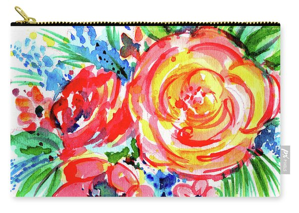 Yellow Rose Red Carry-all Pouch