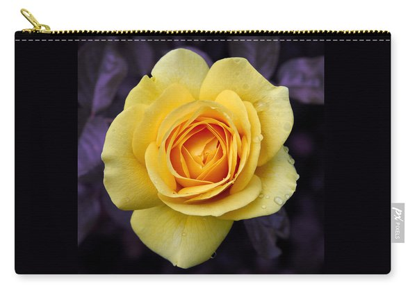 Yellow Rose Square Carry-all Pouch